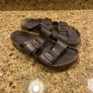 Birkenstock Brown Leather Arizona Sandals Wmn's 9
